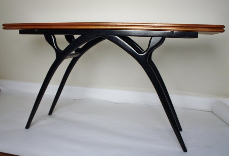 Flip-Top Table with Sculptural Legs 2
