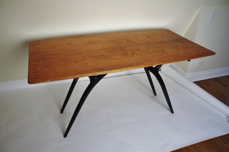 Flip-Top Table with Sculptural Legs 5