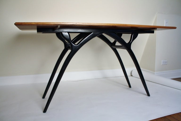 Flip-Top Table with Sculptural Legs 6