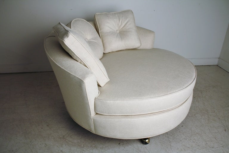 Oversized Round Lounge Chair at 1stdibs