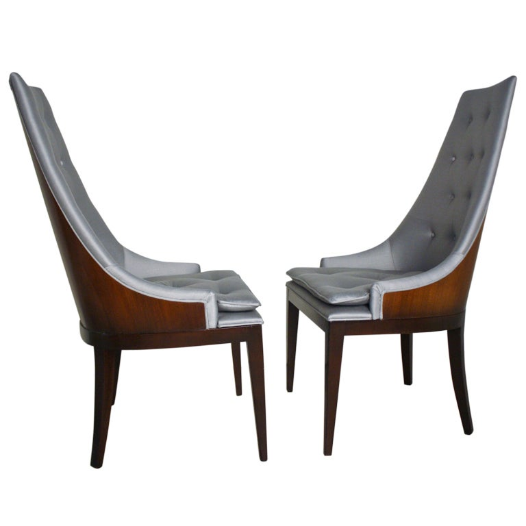 pair of drexel high back barrel chairs at 1stdibs