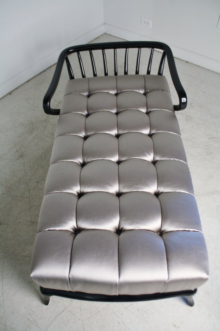 Platinum Tufted Chaise Lounge At 1stdibs
