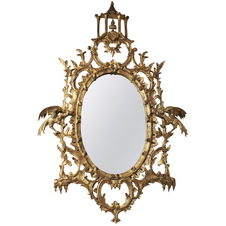 Antique chippendale style mirror at 1stdibs for Old style mirror