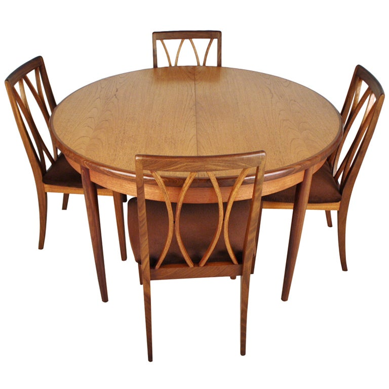 g plan dining expandable dining table and chairs at 1stdibs