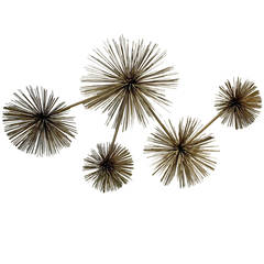 Curtis Jere Pom Pom or Sea Urchin Wall Sculpture