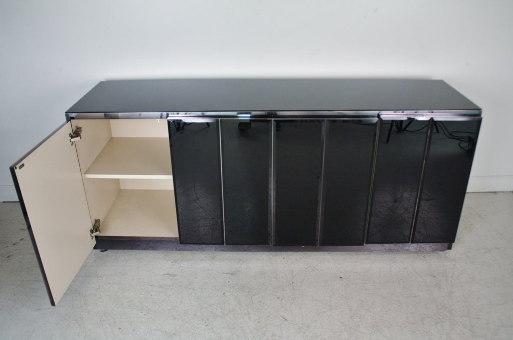 Black Tinted Glass Sideboard at 1stdibs