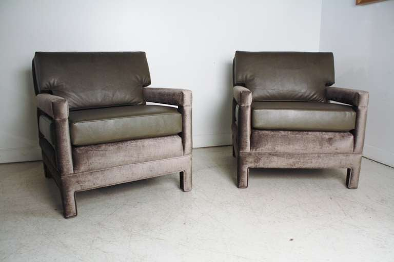 John Widdicomb Lounge Upholstered Arm Chairs 2