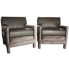 John Widdicomb Lounge Upholstered Arm Chairs