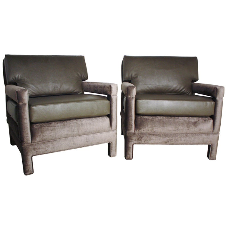 John Widdicomb Lounge Upholstered Arm Chairs 1