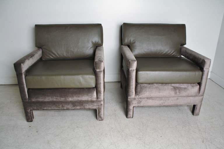 John Widdicomb Lounge Upholstered Arm Chairs 4