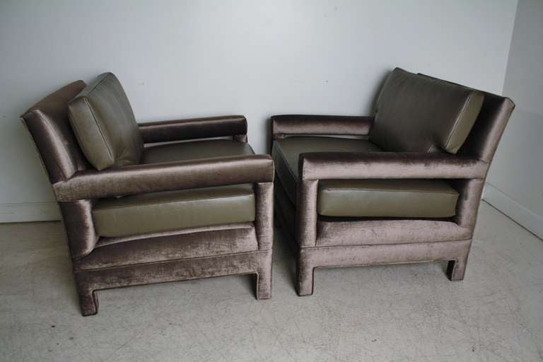 John Widdicomb Lounge Upholstered Arm Chairs 5