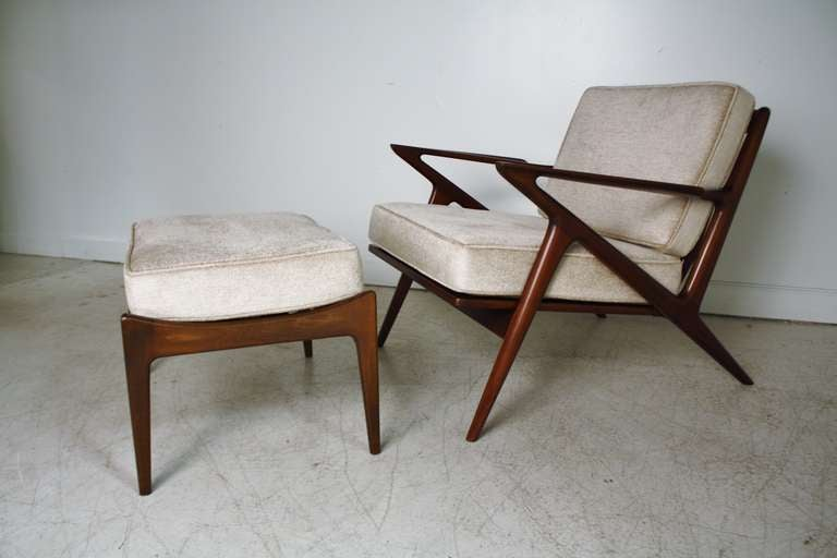 Great Poul Jansen Selig Z Chair And Ottoman 2
