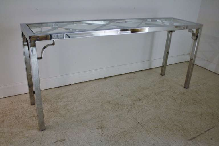 Chrome And Glass Console Sofa Table At 1stdibs. Table Top Water Fountain. Rustic Wedding Table Decorations. Swedish Secretary Desk. Gateleg Tables. Kangaroo Desk. 3 Drawer Filing Cabinet Dimensions. Reliance Broadband Bill Desk. Harley Davidson Pool Table