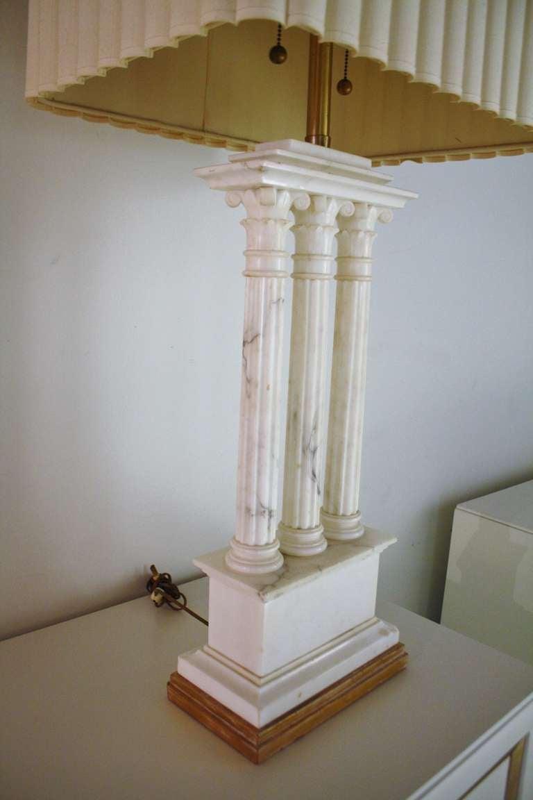Monumental Marbro Roman Columns Lamp At 1stdibs