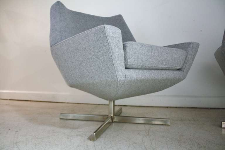 this pair of mid century danish swivel chairs is no longer available