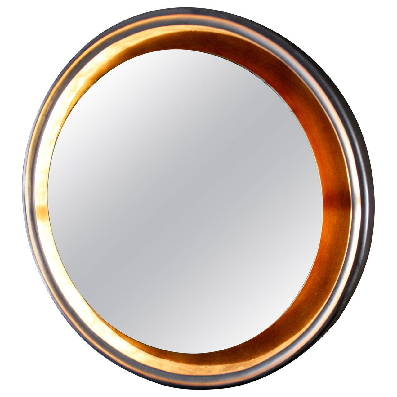 Art Deco Backlit Silver or Gold Leaf Mirror