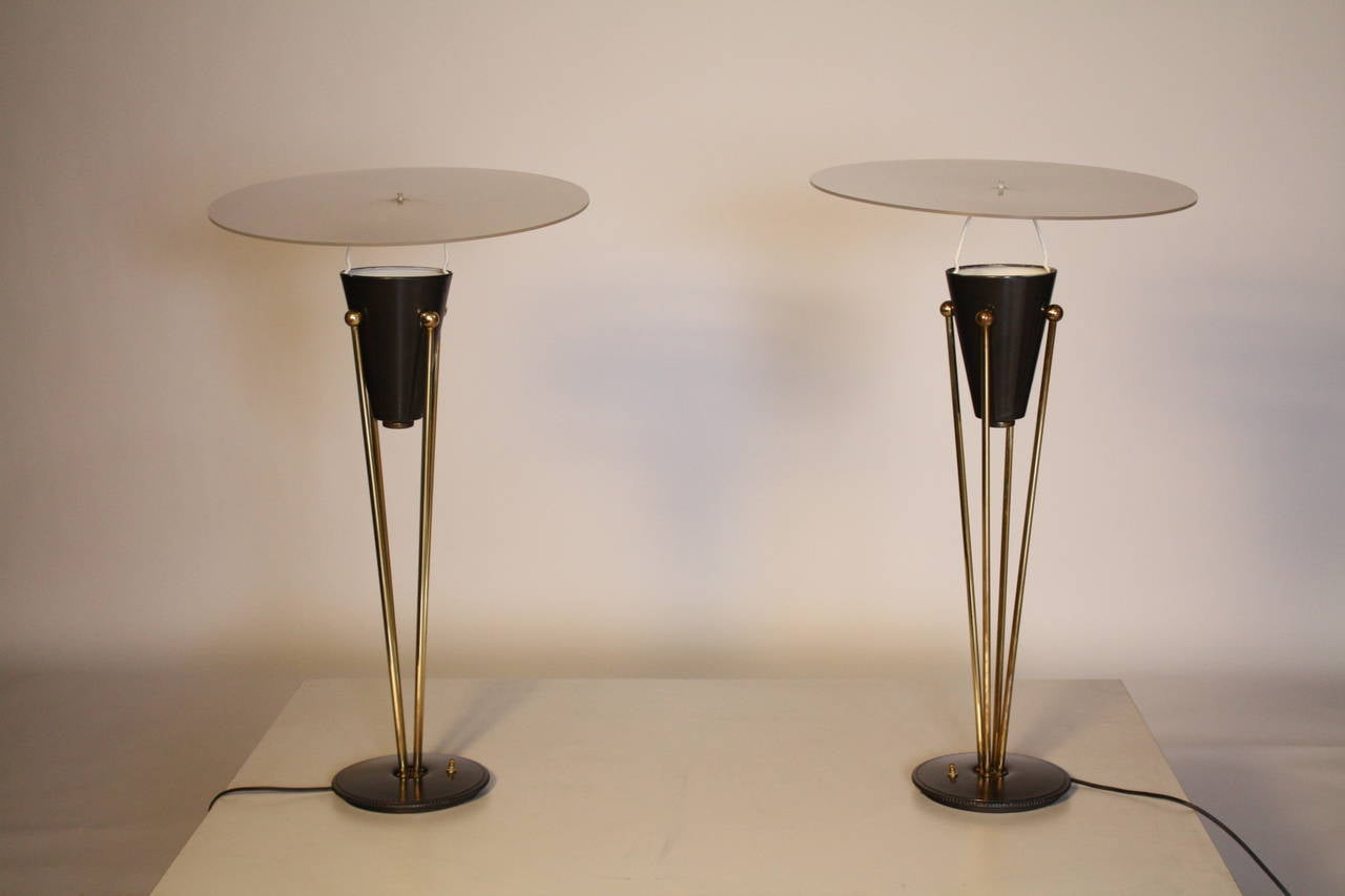 Brass Gerald Thurston Stiffel Lamps For Sale