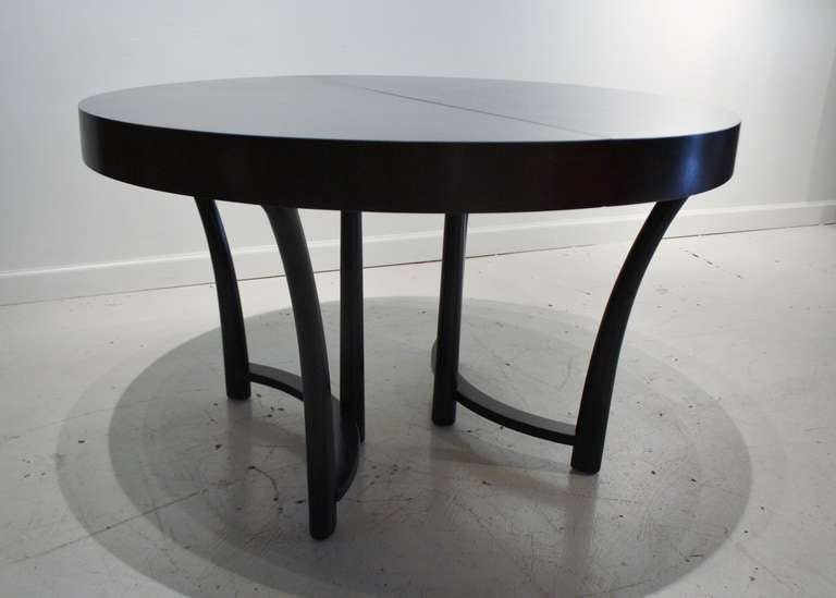 T.H, Robsjohn Gibbings Expandable Round Dining Table 4