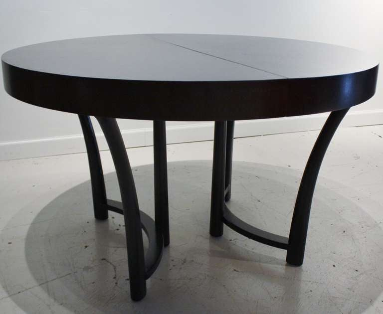Robsjohn Gibbings Expandable Round Dining Table at 1stdibs