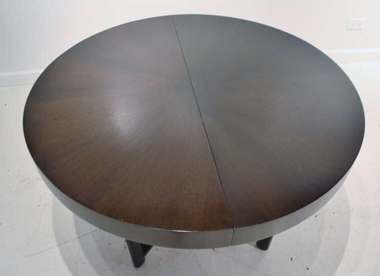 T.H, Robsjohn Gibbings Expandable Round Dining Table 6