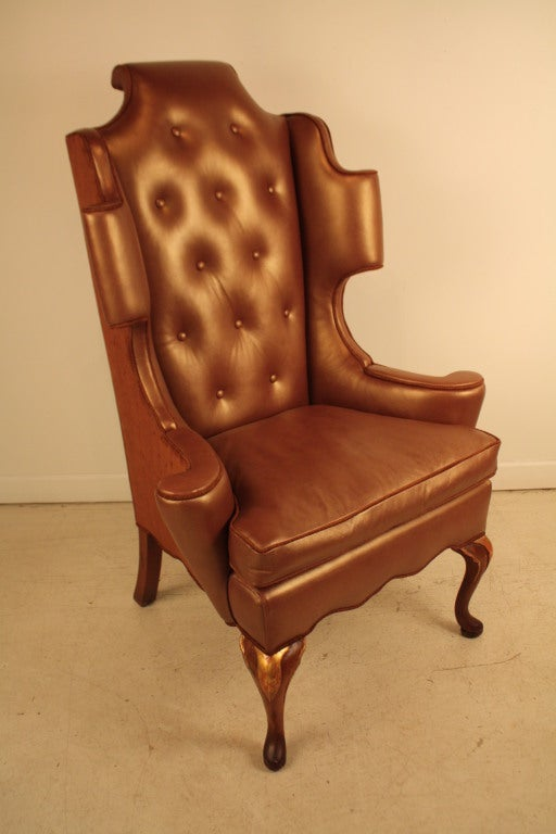 George ii style reupholstered wing back chair at 1stdibs for Reupholstered chairs for sale