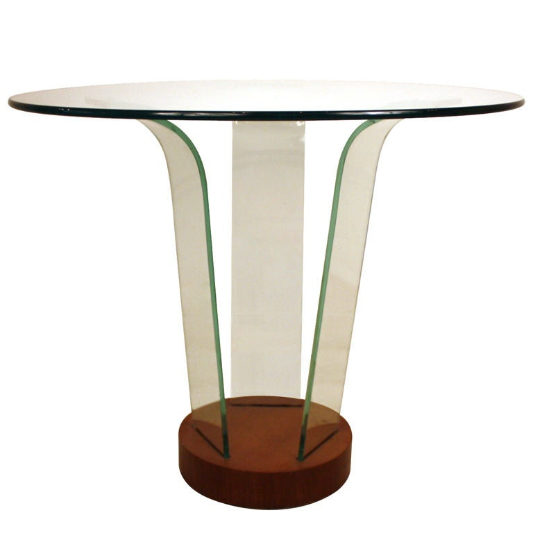 Glass Center Table : Art Deco Glass Center Table at 1stdibs