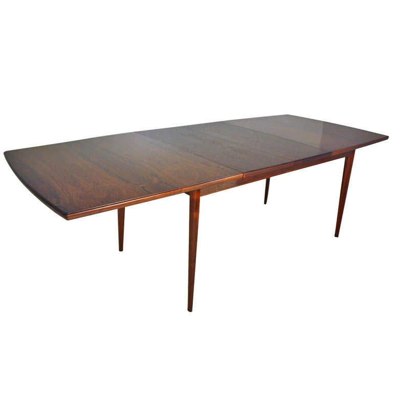expandable rosewood dining table at 1stdibs