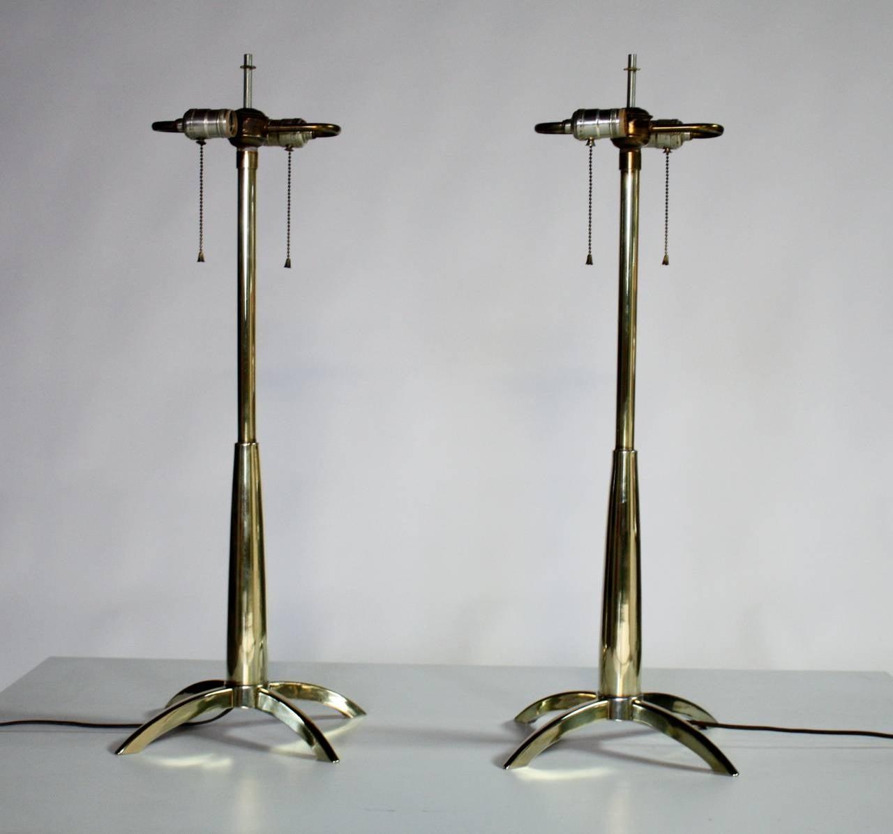 Polished Stiffel Rocket Lamps For Sale