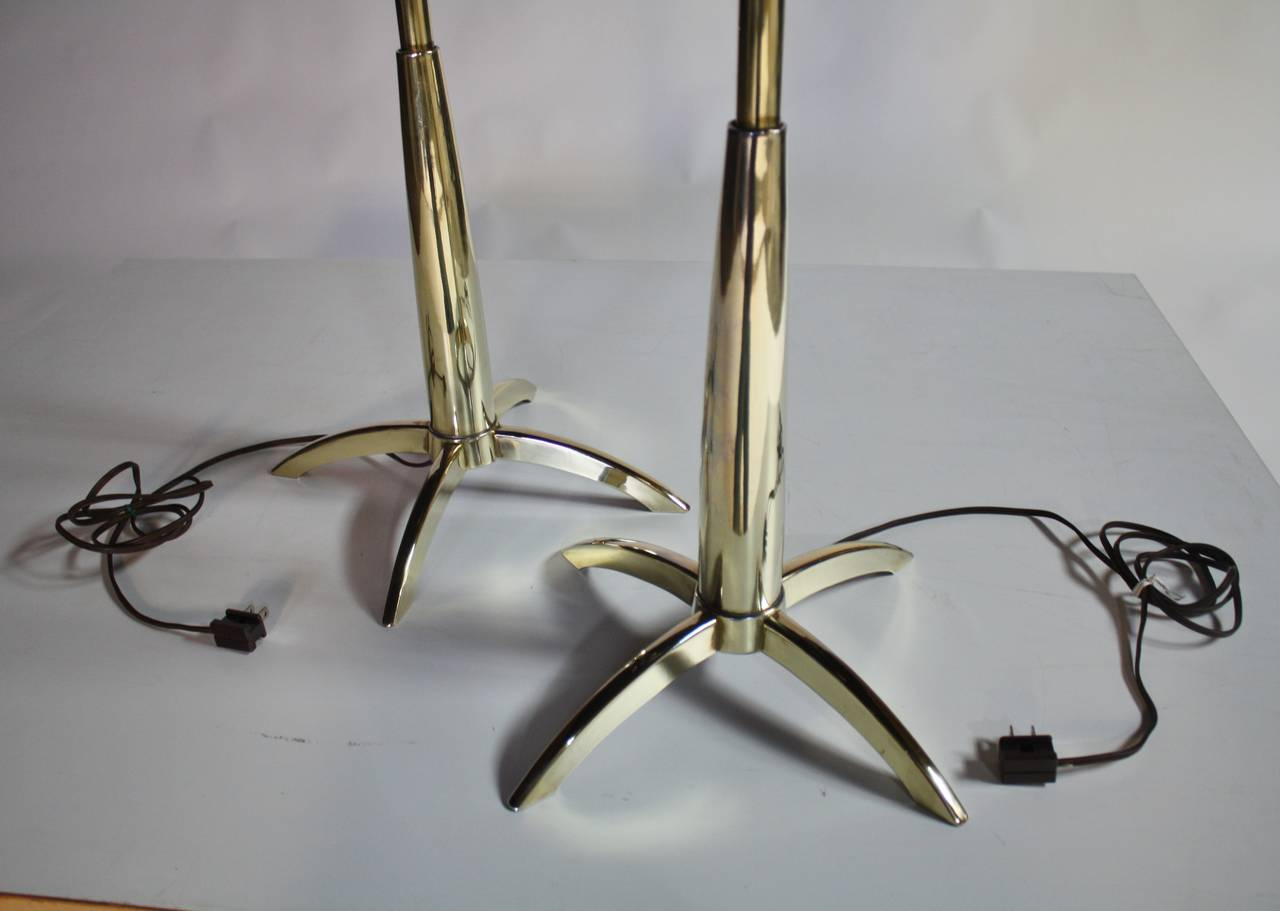 Brass Stiffel Rocket Lamps For Sale