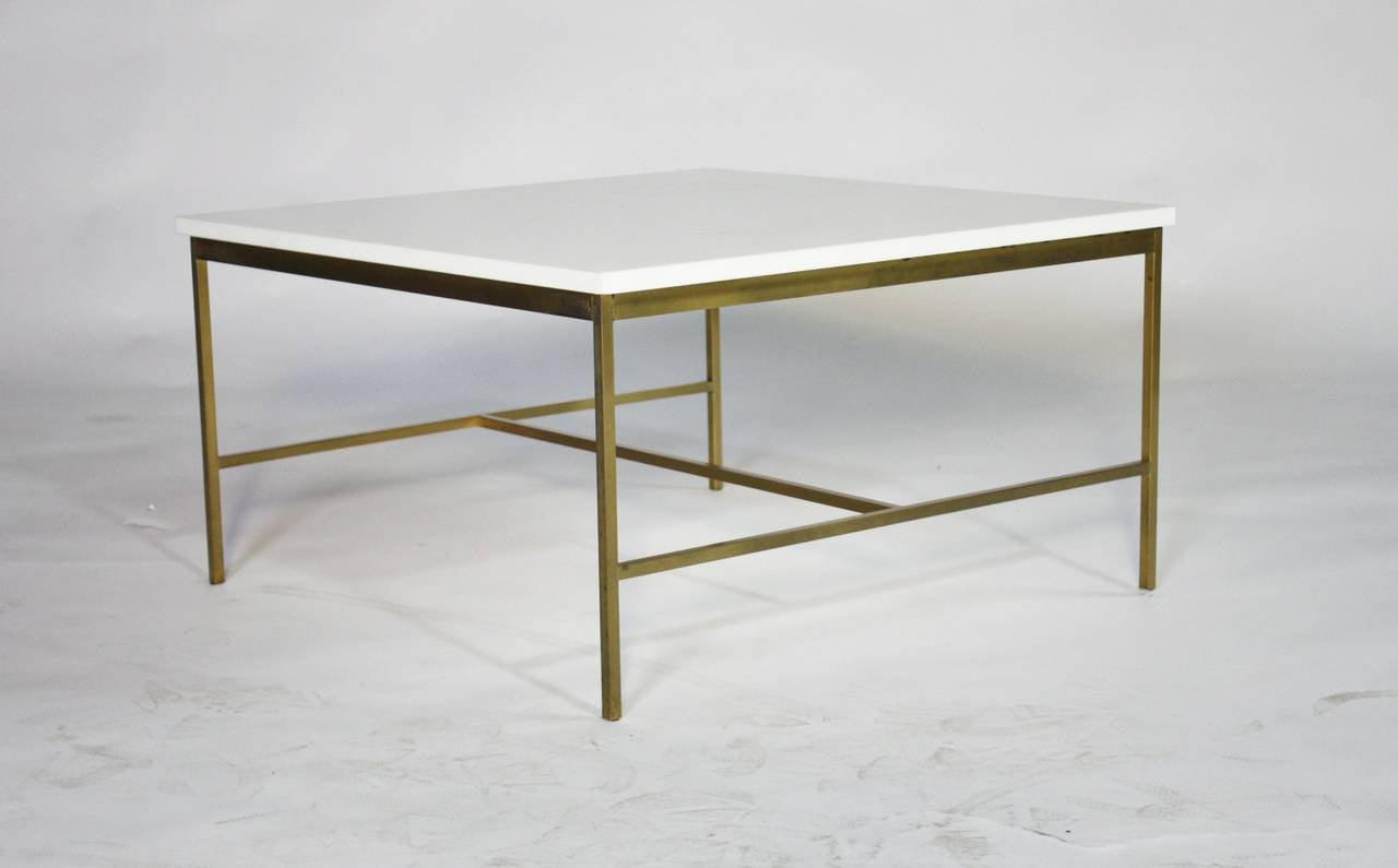 Paul McCobb Brass and Vitrolite Cocktail Table 6