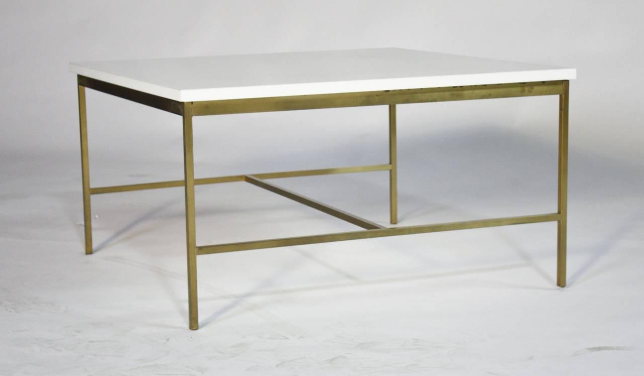 Paul McCobb Brass and Vitrolite Cocktail Table 4