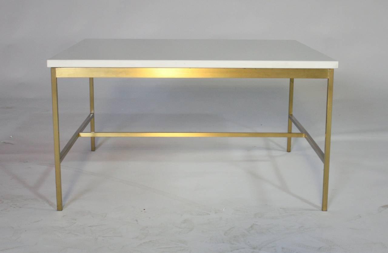 Paul McCobb Brass and Vitrolite Cocktail Table 2