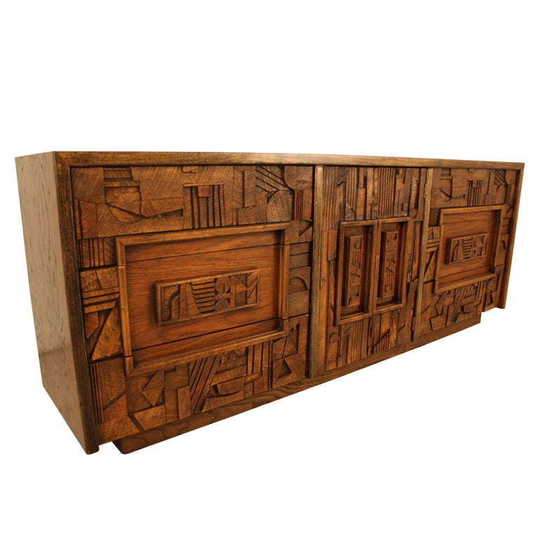 Lane Brutalist Dresser At 1stdibs