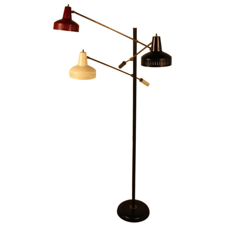 Tri cone articulated floor lamp at 1stdibs for Led articulated floor lamp
