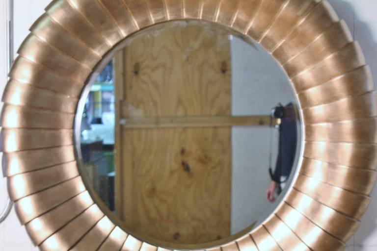 Large Round Gold Gilt Mantel Mirror At 1stdibs
