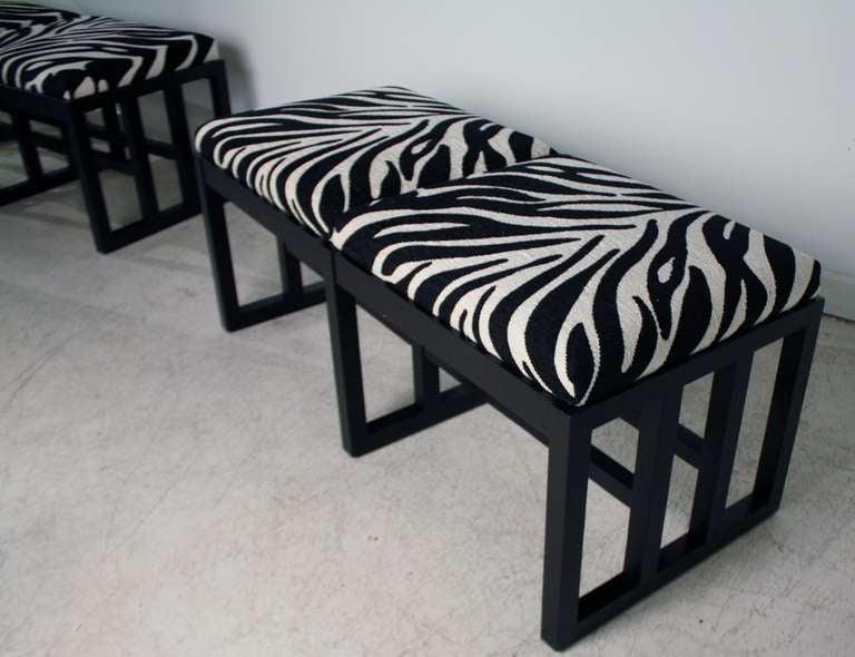 Zebra Print Bauhaus Style Benches At 1stdibs