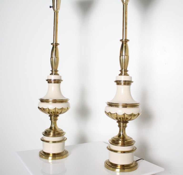 Pair Of 1950s Stiffel Lamps At 1stdibs