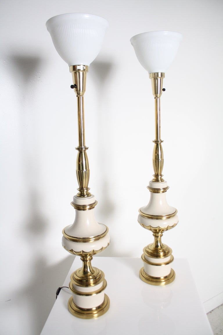 Pair Of 1950 S Stiffel Lamps At 1stdibs
