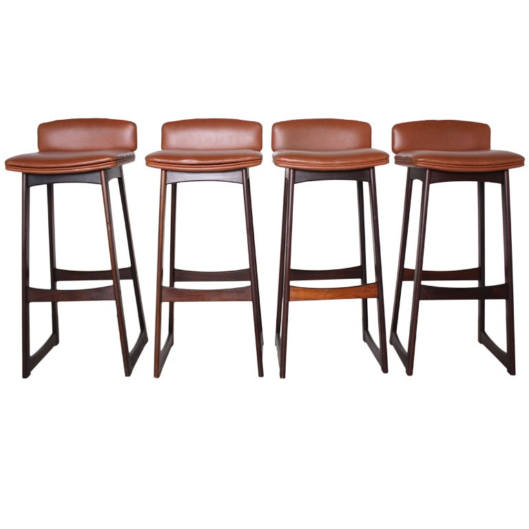 Danish Modern Rosewood Bar Stools At 1stdibs