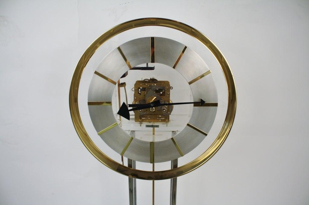 Howard Miller Modernist Pendulum Clock At 1stdibs