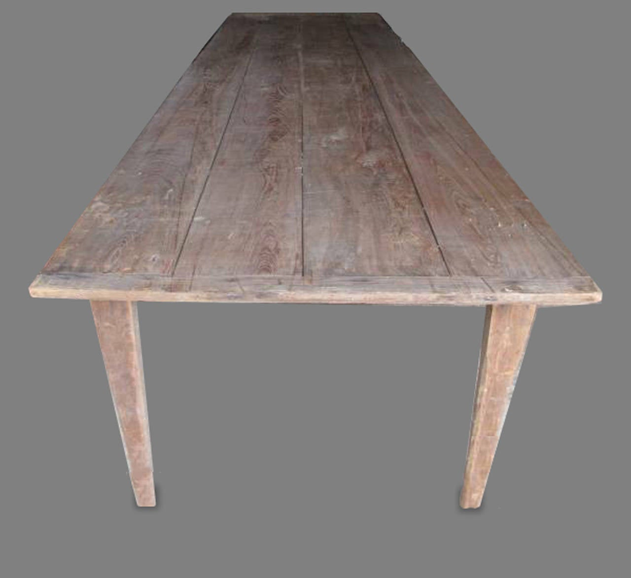 Antique folding harvest table 10 ft length at 1stdibs for 10 ft dining room table