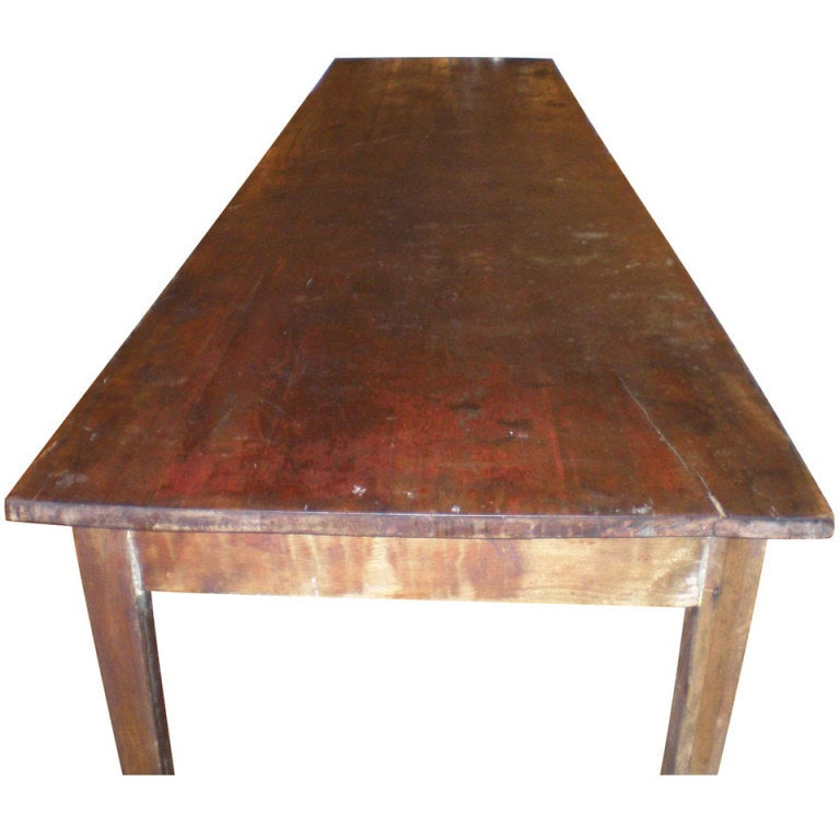 Long Dining Tables For Sale: Primitive, Pine Table From Old School, 12 Feet Long At 1stdibs
