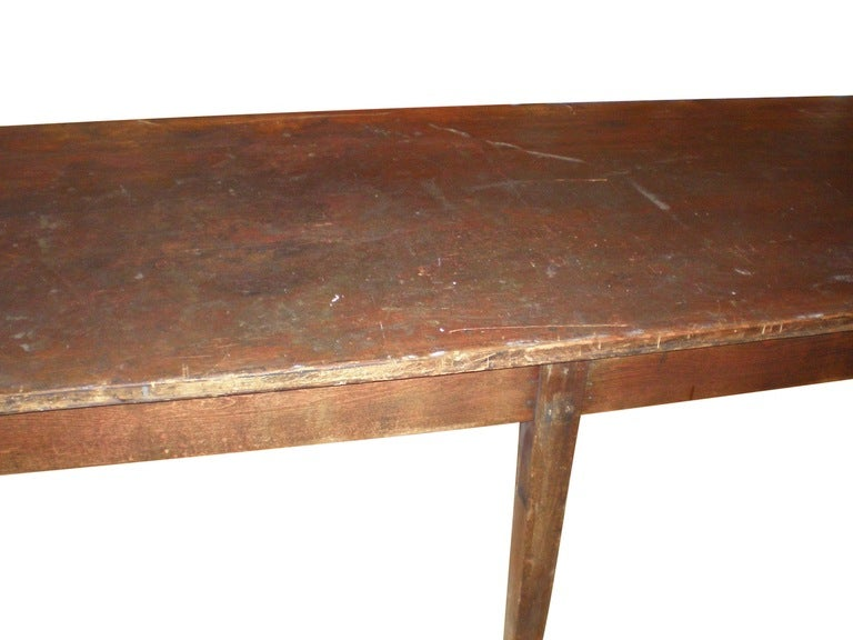 Primitive pine table from old school 12 feet long at 1stdibs for 12 foot dining room table