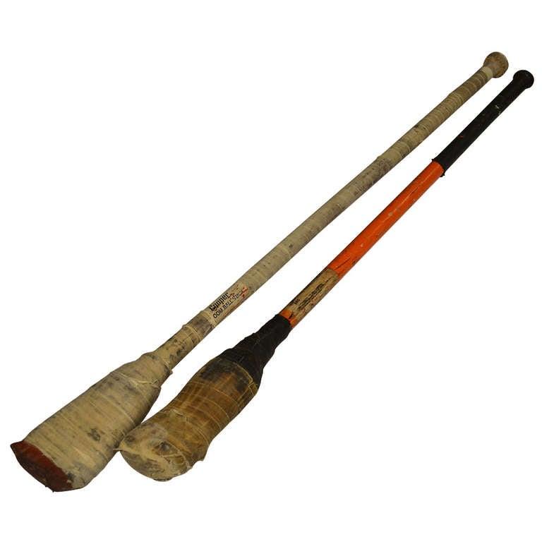 Broom Ball Sticks From Canada Pair At 1stdibs