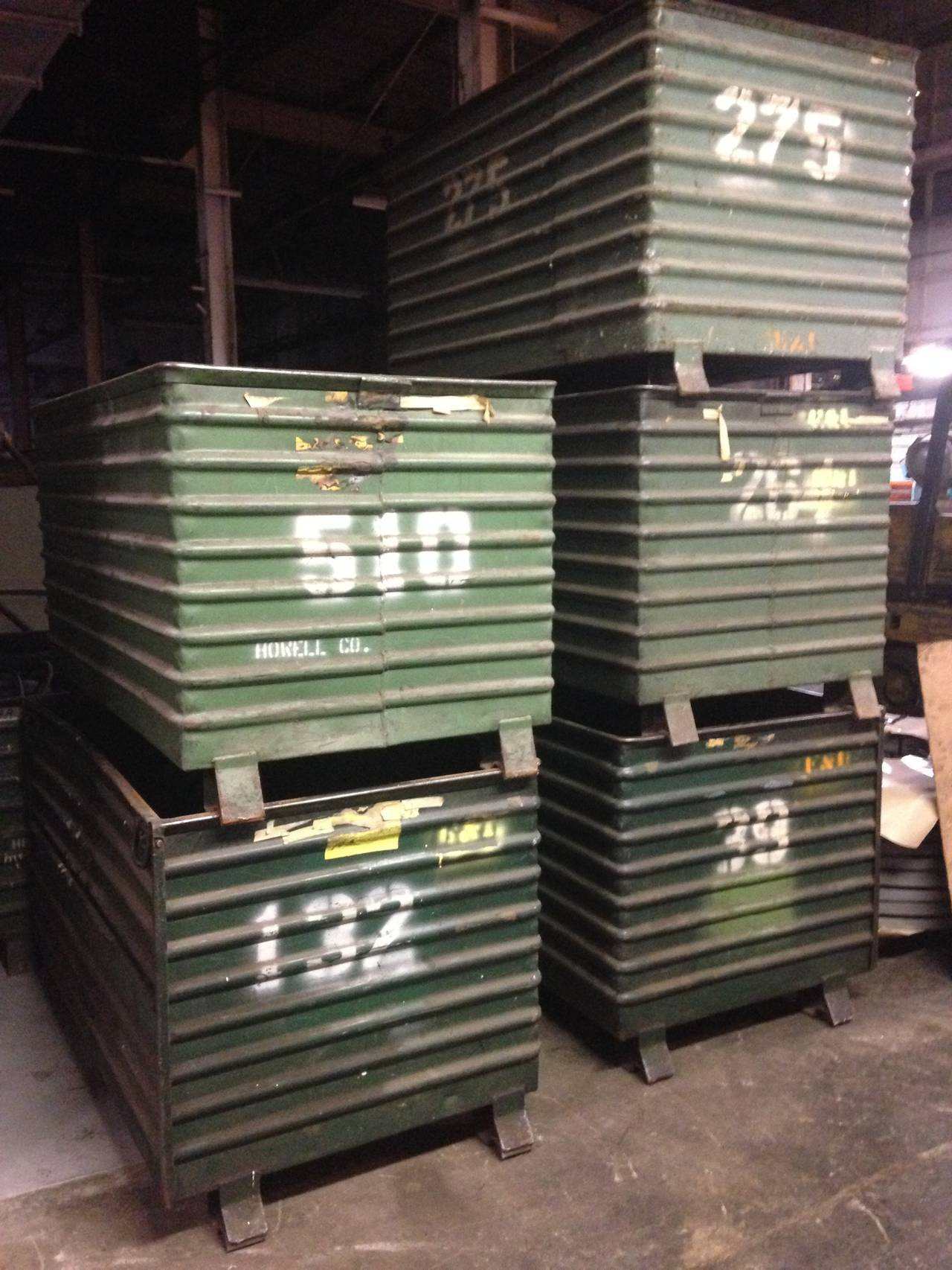 Large Industrial Steel Storage Bins 12 Available At 1stdibs