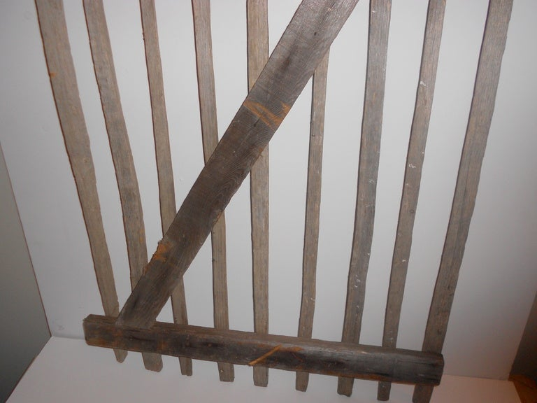 Primitive Garden Gate of hand-hewn stakes 9