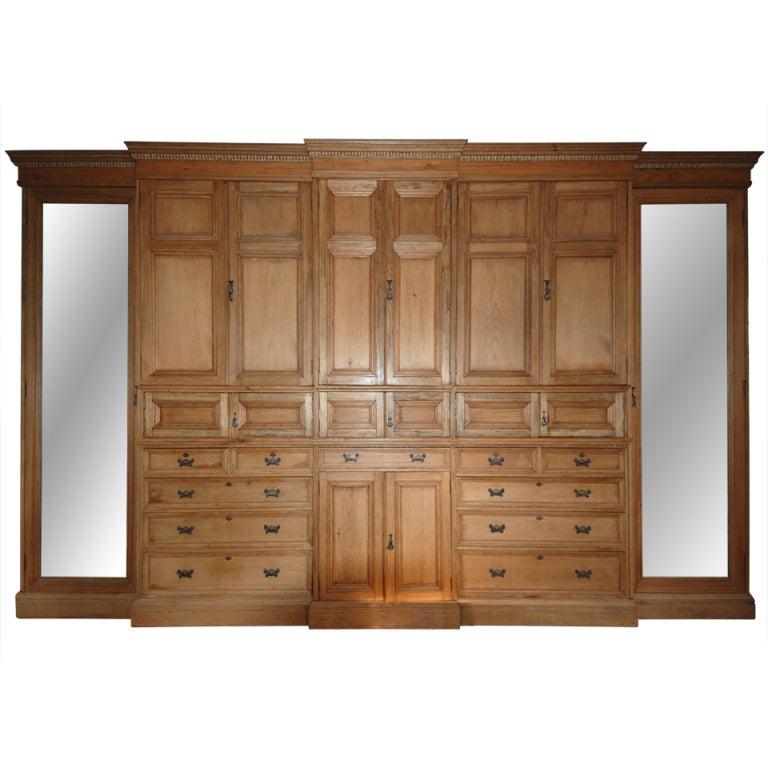 antique english cottage pine wardrobe armoire circa 1900. Black Bedroom Furniture Sets. Home Design Ideas