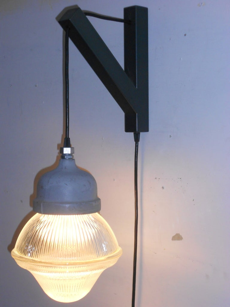 Holophane Acorn Pendant Light with plug-in on Wall Bracket at 1stdibs