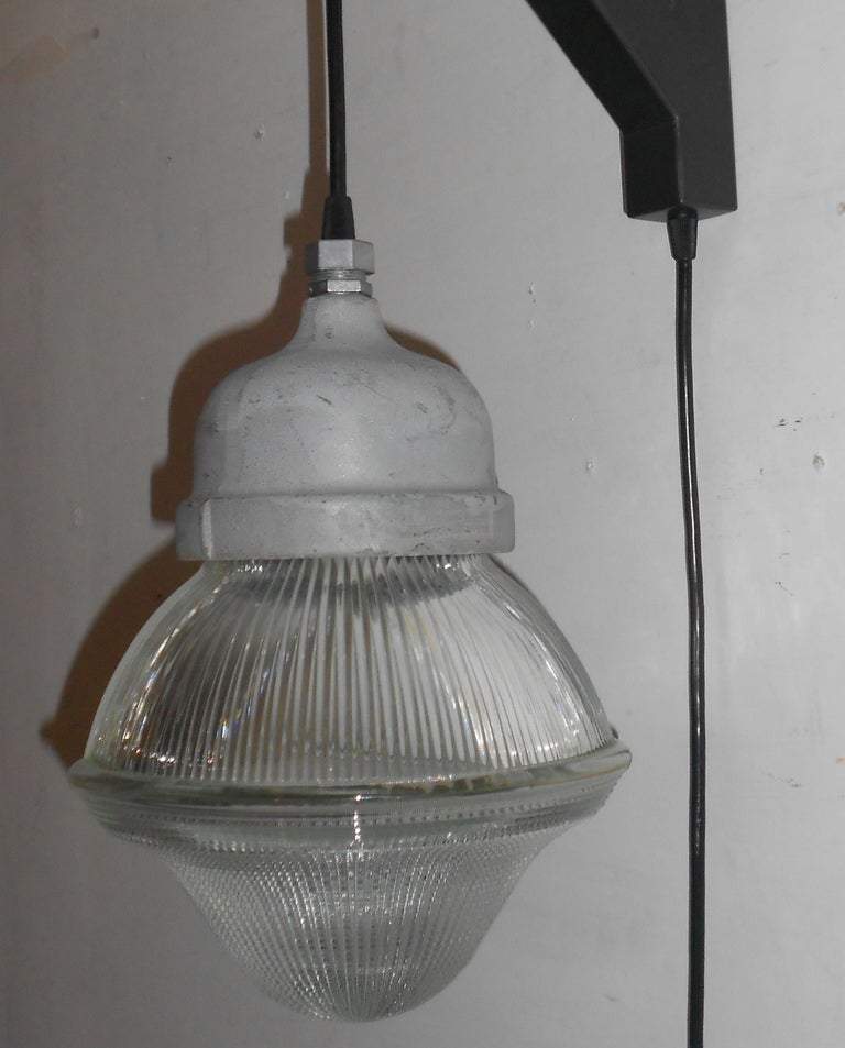 Vanity Lights That Plug Into The Wall : Holophane Acorn Pendant Light with plug-in on Wall Bracket at 1stdibs