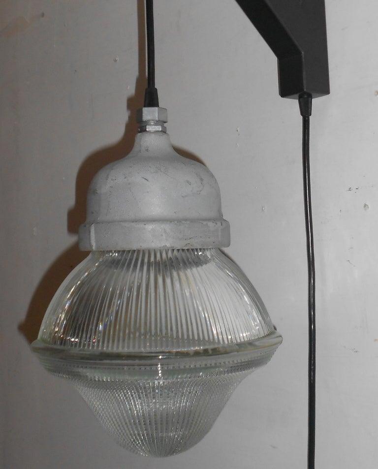 Wall Bracket Pendant Light : Holophane Acorn Pendant Light with plug-in on Wall Bracket at 1stdibs
